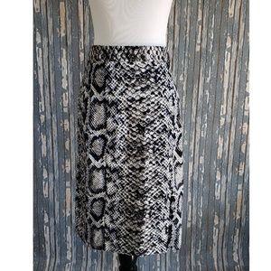 Nanette Lepore Python Snake Print Pencil Skirt